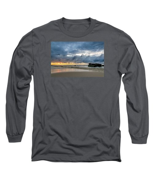 Orange And Blue Long Sleeve T-Shirt by Martin Capek