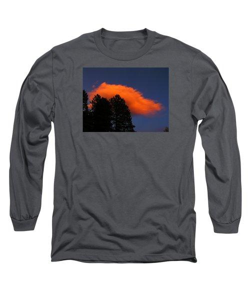 Orange Cloud Long Sleeve T-Shirt