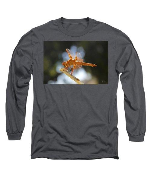 Orange Dragonfly Long Sleeve T-Shirt