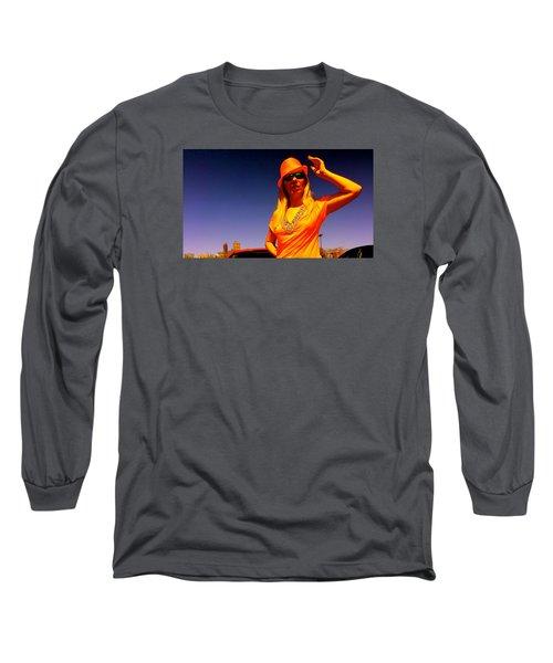 Orange Friday Long Sleeve T-Shirt by Yelena Tylkina