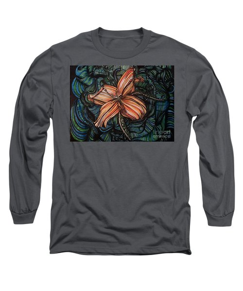 Orange Lily Long Sleeve T-Shirt