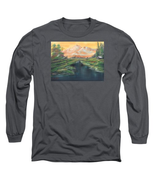 Orange Mountain Long Sleeve T-Shirt