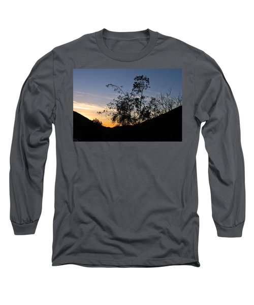 Orange Sky Nature Silhouette Long Sleeve T-Shirt
