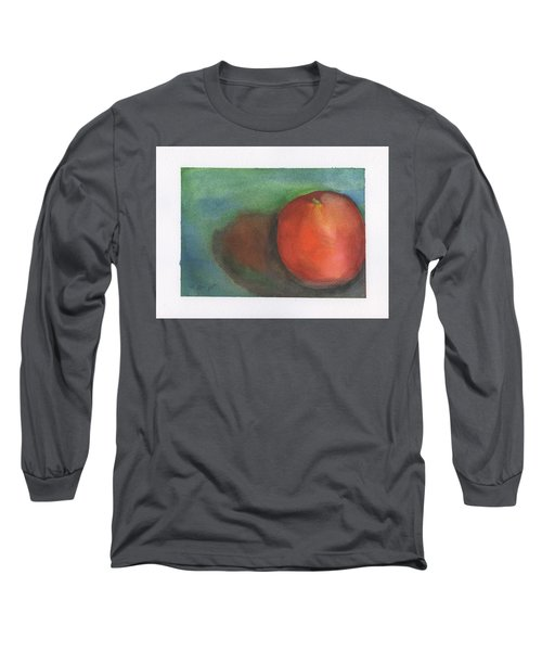 Long Sleeve T-Shirt featuring the painting Orange Still Life by Frank Bright