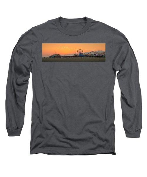 Orange Sunset - Panorama Long Sleeve T-Shirt
