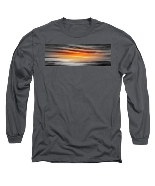 Orange Sunset - Panoramic Long Sleeve T-Shirt
