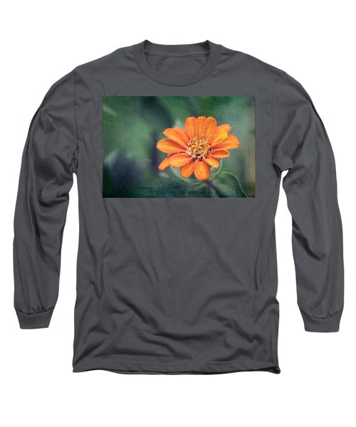 Orange Zinnia Long Sleeve T-Shirt