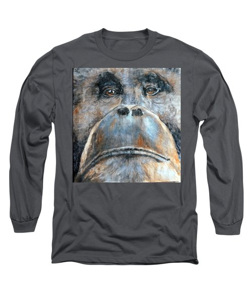 Orangutan Long Sleeve T-Shirt by Maureen Murphy