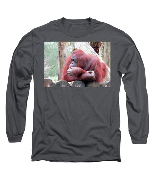 Orangutang Contemplating Long Sleeve T-Shirt