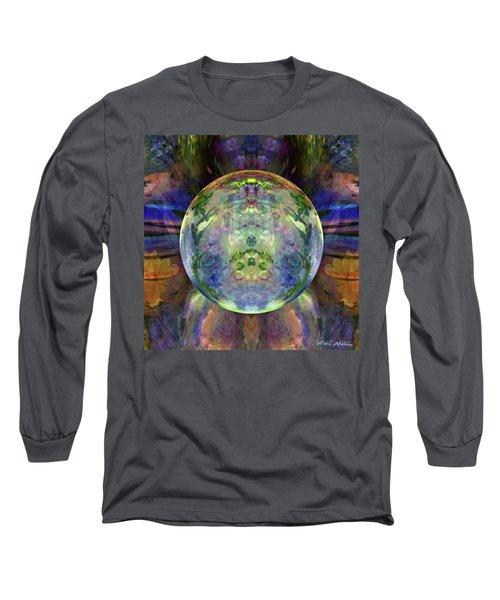 Long Sleeve T-Shirt featuring the digital art Orbital Symmetry by Robin Moline