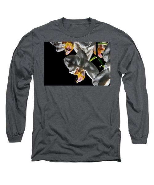 Orchid On Fire Long Sleeve T-Shirt