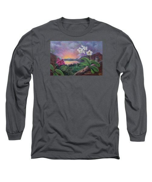 Orchids And Mystery Long Sleeve T-Shirt