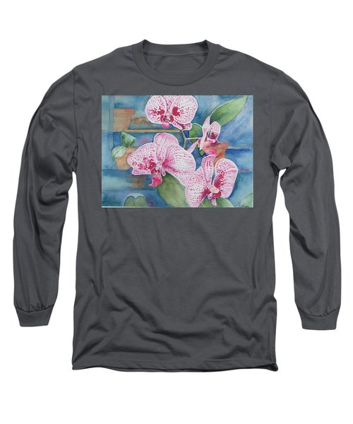 Orchids Long Sleeve T-Shirt by Christine Lathrop