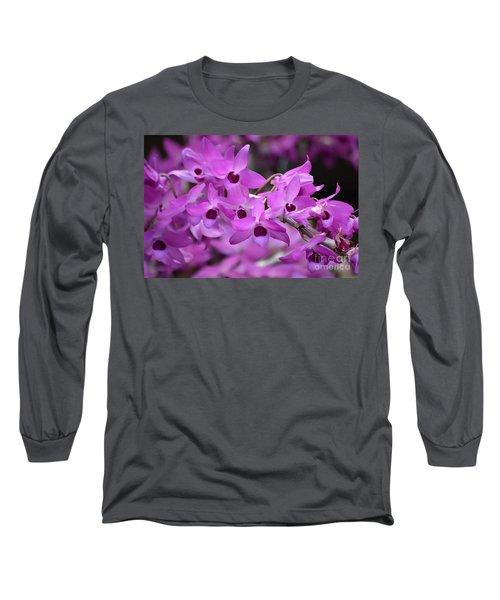 Orchids Paint Long Sleeve T-Shirt