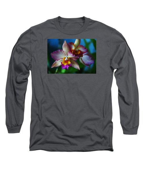 Orchids - Trio Long Sleeve T-Shirt by Kerri Ligatich