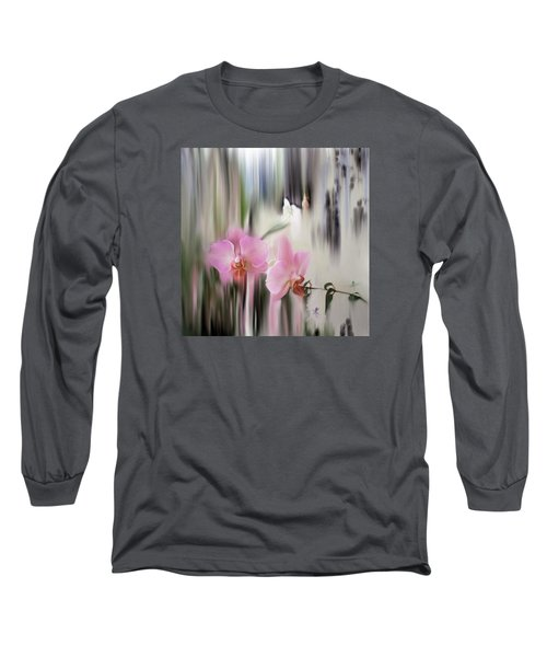Orchids With Dragonflies Long Sleeve T-Shirt