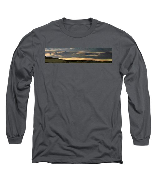 Oregon Canyon Mountain Layers And Textures Long Sleeve T-Shirt by Leland D Howard