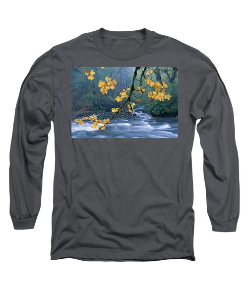 Oregon, Cascade Mountain Long Sleeve T-Shirt by Carl Shaneff - Printscapes