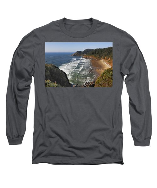 Oregon Coast No 1 Long Sleeve T-Shirt by Belinda Greb