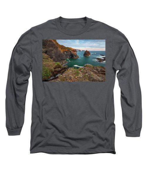 Long Sleeve T-Shirt featuring the photograph Oregon Coastal Scenic by Leland D Howard