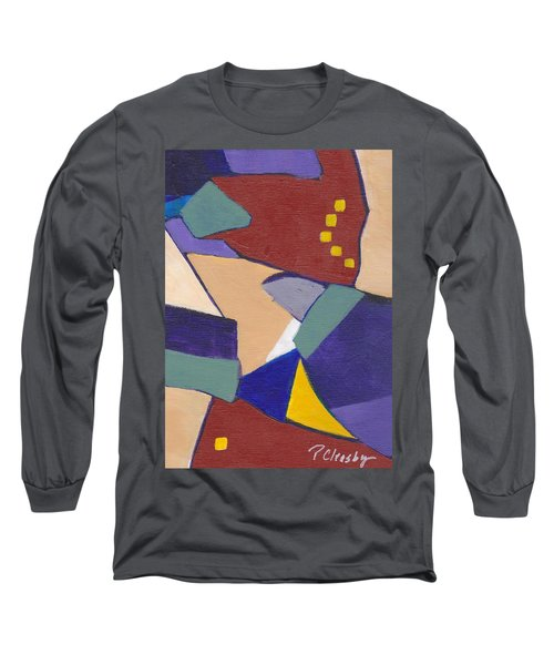 Long Sleeve T-Shirt featuring the painting Organic Abstract Series IIi by Patricia Cleasby