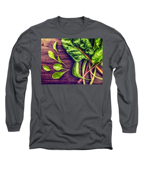 Organic Rainbow Chard Long Sleeve T-Shirt
