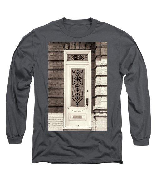Ornate Glass Panel Long Sleeve T-Shirt