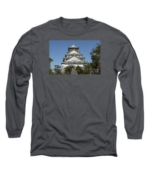 Long Sleeve T-Shirt featuring the photograph Osaka Castle by Pravine Chester