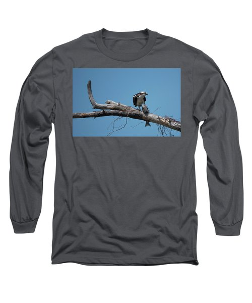 Osprey And Fish Long Sleeve T-Shirt