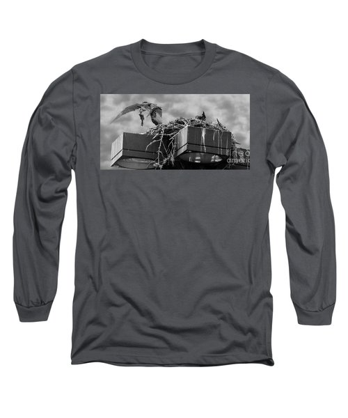 Osprey Carrying Fish To Nest Long Sleeve T-Shirt