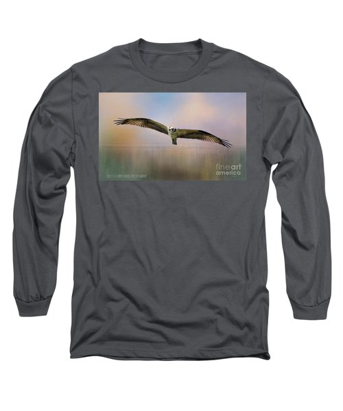 Osprey Over The Shenandoah Long Sleeve T-Shirt by Kathy Russell