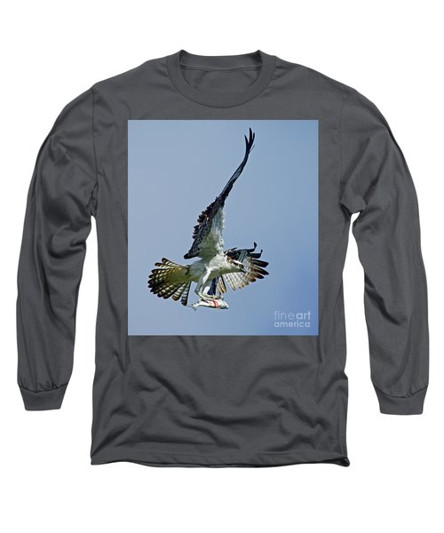 Long Sleeve T-Shirt featuring the photograph Osprey Success by Larry Nieland