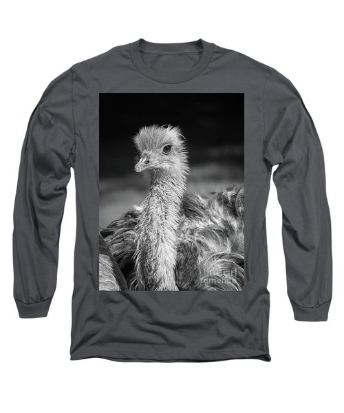 Ostrich Black And White Long Sleeve T-Shirt