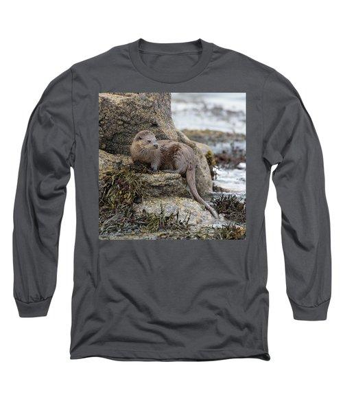 Otter Beside Loch Long Sleeve T-Shirt