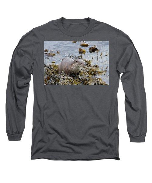 Otter On Seaweed Long Sleeve T-Shirt