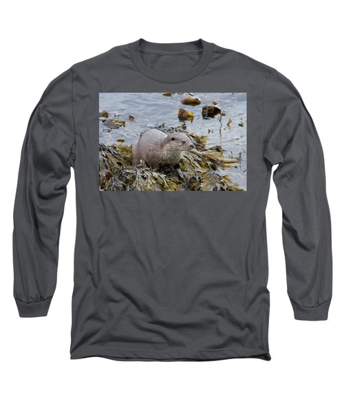 Otter On Seaweed Long Sleeve T-Shirt