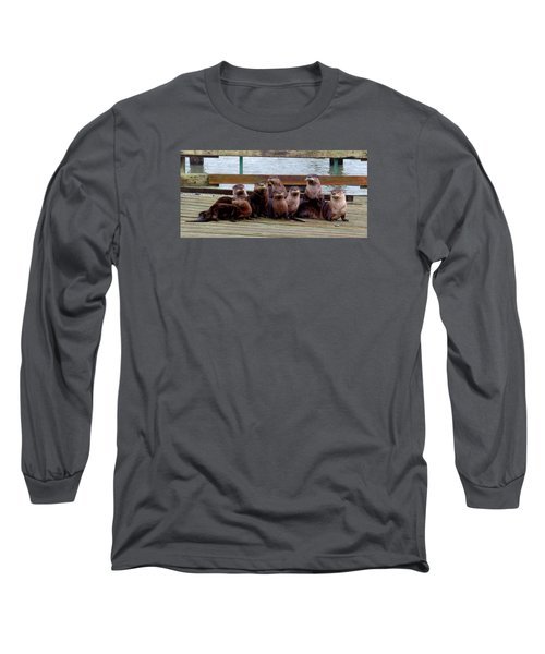 Otters Posing Long Sleeve T-Shirt