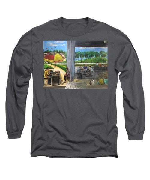 Our Home, Our Community Long Sleeve T-Shirt by Belinda Low