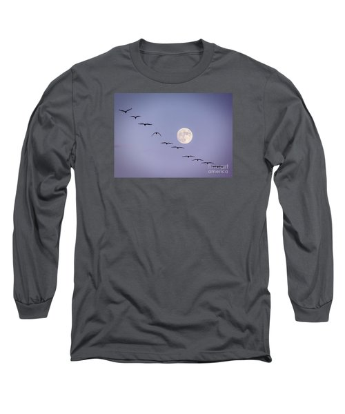 Out Of Sync Long Sleeve T-Shirt by Janice Rae Pariza