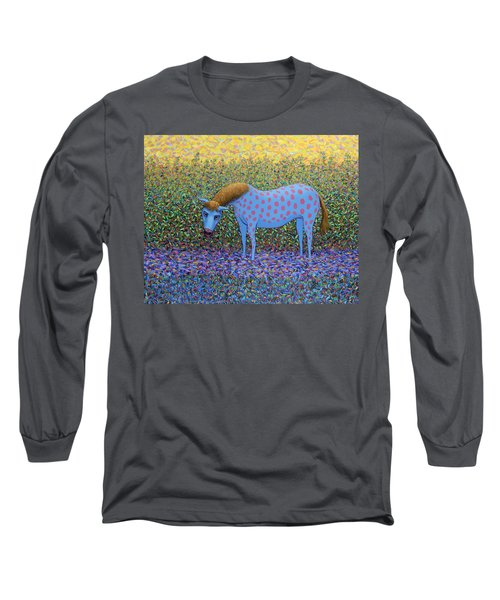 Long Sleeve T-Shirt featuring the painting Out Of The Pasture by James W Johnson