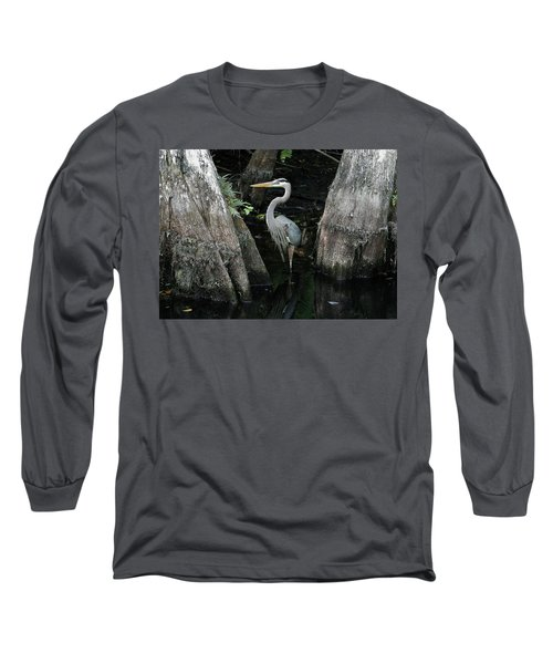 Out Standing In The Swamp Long Sleeve T-Shirt by Lamarre Labadie
