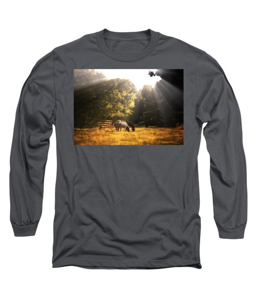 Out To Pasture Long Sleeve T-Shirt by Mark Fuller