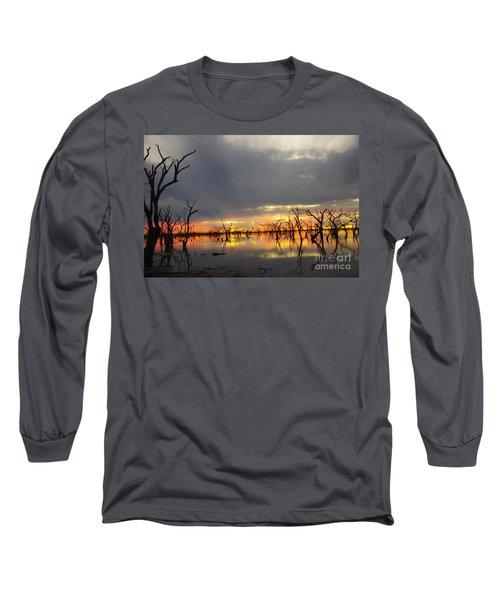 Outback Sunset Long Sleeve T-Shirt by Blair Stuart