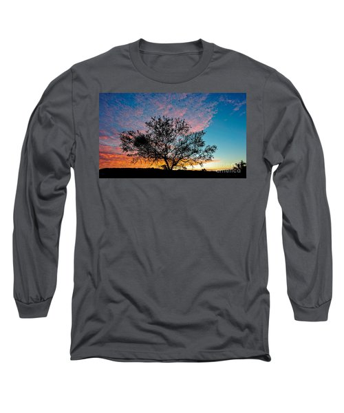 Outback Sunset Pano Long Sleeve T-Shirt