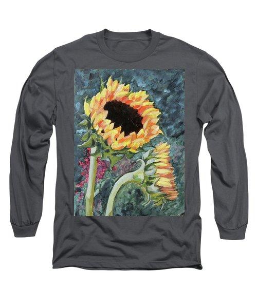 Outdoor Sunflowers Long Sleeve T-Shirt