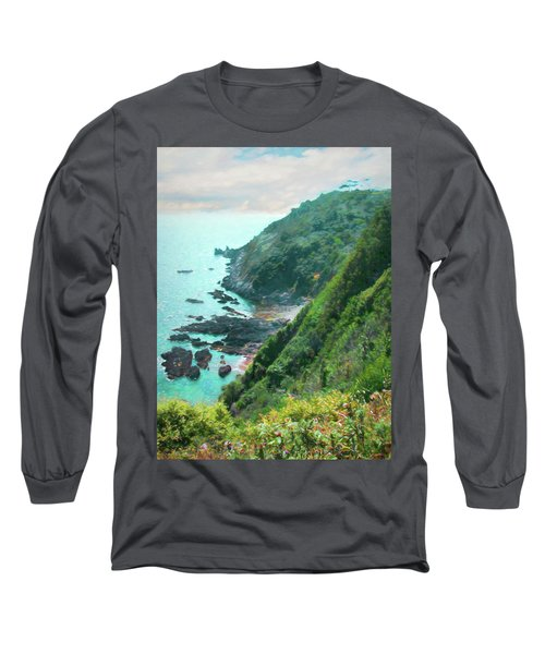 Long Sleeve T-Shirt featuring the photograph South End Of Guernsey by Bellesouth Studio