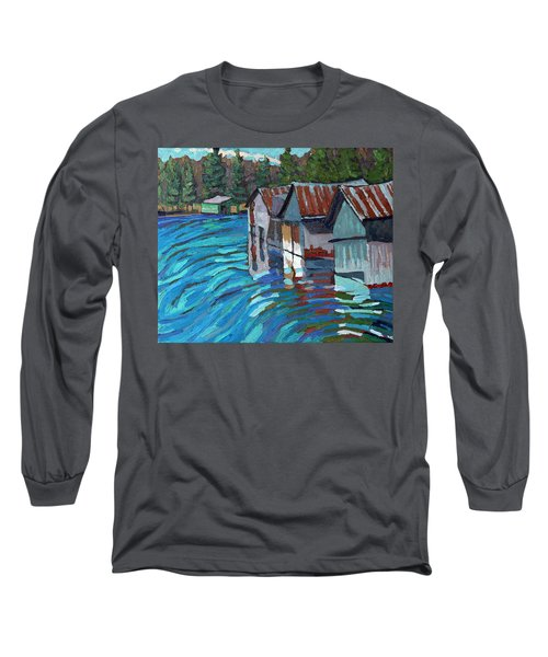 Outlet Row Of Boat Houses Long Sleeve T-Shirt