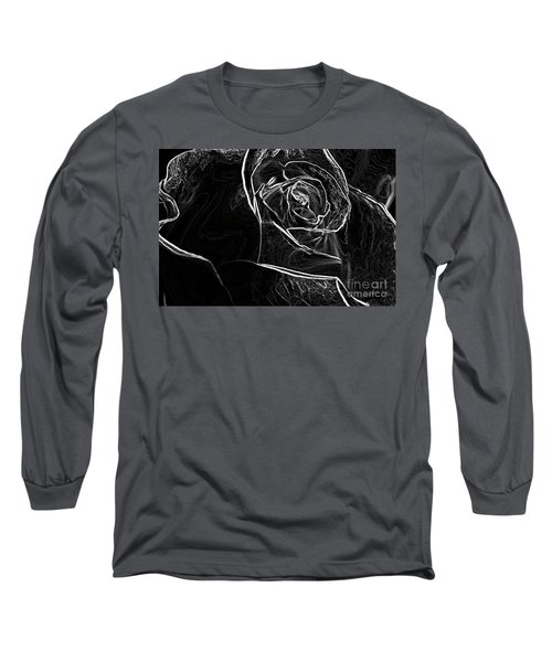 Long Sleeve T-Shirt featuring the photograph Outline Of A Rose by Micah May