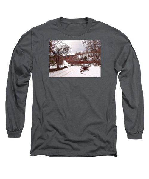 Long Sleeve T-Shirt featuring the photograph Over The River by Betsy Zimmerli
