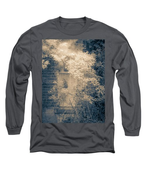 Overgrowth On Abandoned Pumping Station Long Sleeve T-Shirt
